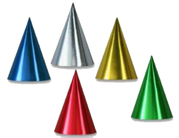 Foil Solid Color Party Hats